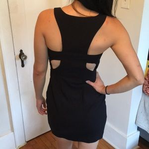 Little Black Dress with Back Cutouts